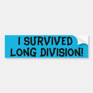 Ich überlebte lange Abteilung Autoaufkleber