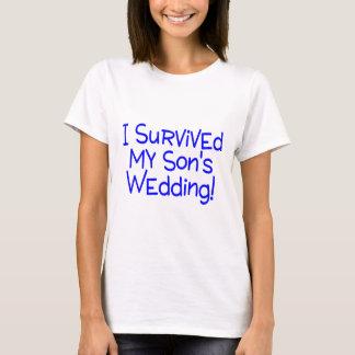 Ich überlebte meine Söhne, die Blau Wedding sind T-Shirt