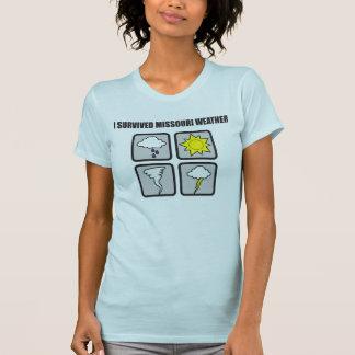 Ich überlebte Missouri-Wetter - 4 Logos T-Shirt