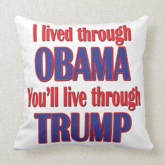 Ich überlebte Obama Kissen