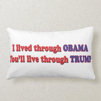 Ich überlebte Obama Lendenkissen