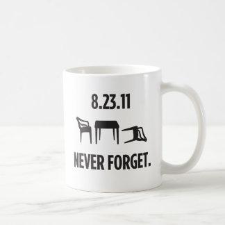Ich überlebte Ostküsten-Erdbeben Kaffeetasse