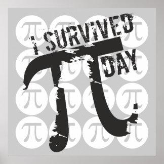 Ich überlebte PU-Tag - lustigen PU Poster