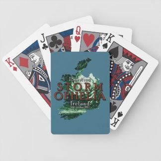 Ich überlebte Sturm Ophelia in Irland Bicycle Spielkarten