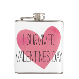 Ich überlebte Valentinstagflasche Flachmann