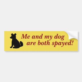 Ich und mein HundeAutoaufkleber Autoaufkleber
