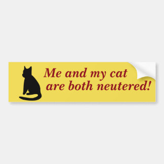 Ich und mein Katzen-Autoaufkleber Autoaufkleber
