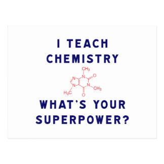 Ich unterrichte Chemie, was Ihre Supermacht ist? Postkarten