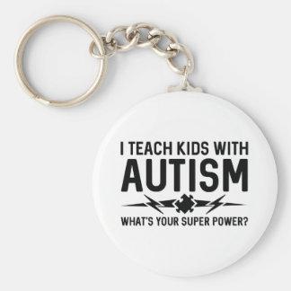 Ich unterrichte Kinder mit Autismus Schlüsselanhänger