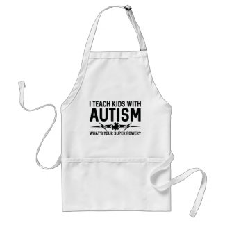 Ich unterrichte Kinder mit Autismus Schürze