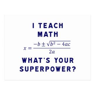 Ich unterrichte Mathe, was Ihre Supermacht ist? Postkarten