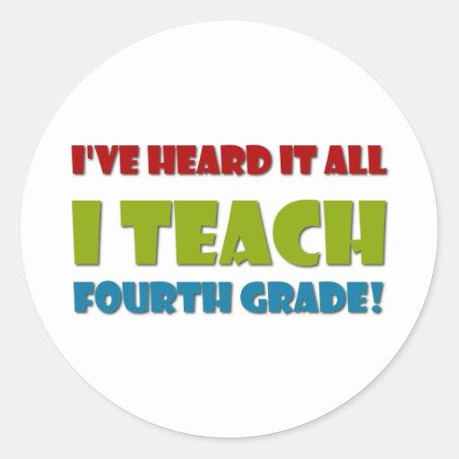Ich unterrichte vierten Grad Runde Sticker