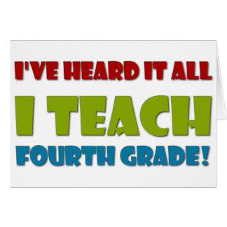 Ich unterrichte vierten Grad Grußkarte