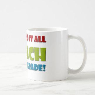 Ich unterrichte vierten Grad Kaffeetasse