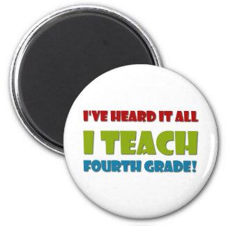 Ich unterrichte vierten Grad Runder Magnet 5,7 Cm