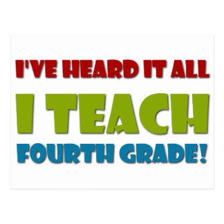 Ich unterrichte vierten Grad Postkarten