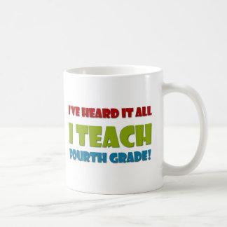 Ich unterrichte vierten Grad Tasse
