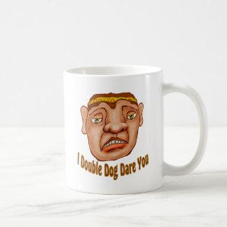 Ich verdoppele Hundeherausforderung Sie Kaffeetasse