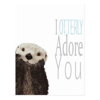 Ich verehre Sie otterly Postkarte