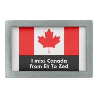 Ich verfehle Kanada von wie zum Zed Rechteckige Gürtelschnalle