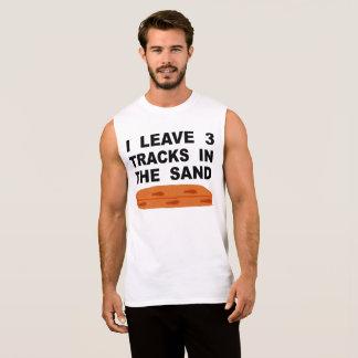 Ich verlasse 3 Bahnen im Sand Ärmelloses Shirt