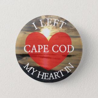 Ich verließ mein Herz im Cape- Codbild-Knopf Runder Button 5,7 Cm