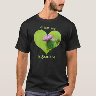 Ich verließ mein Herz im Schottland-Distel-lila T-Shirt