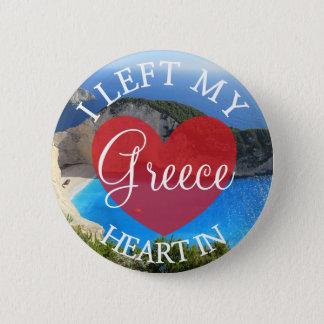 Ich verließ mein Herz in Griechenland-Knopf Runder Button 5,7 Cm