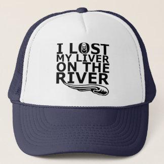 """""""Ich verlor meine Leber auf dem Fluss"""" Truckerkappe"""