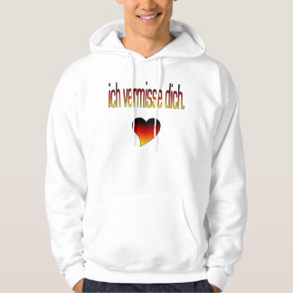 Ich Vermisse Dich! Deutsche Flaggen-Farben Hoodies