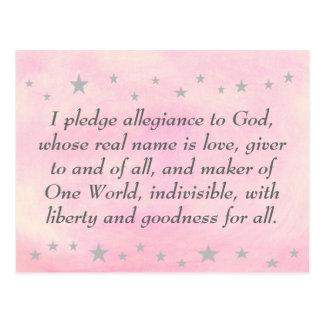 Ich verspreche Ergebenheit zum Gott, Postkarte
