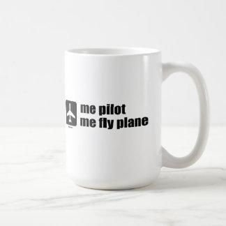 ich Versuchs ich Fliegen-Flugzeug Kaffeetasse