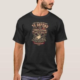 Ich verteidige den Konstitutions-Veteran T-Shirt