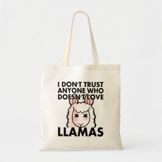 Ich vertraue niemandem, das nicht Liebe-Lamas tut Tragetasche