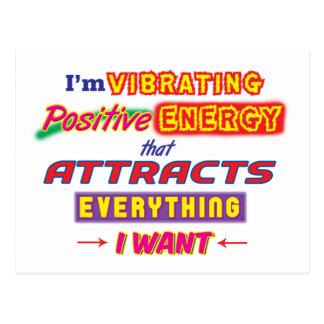 Ich vibriere positive Energie-Postkarte Postkarte