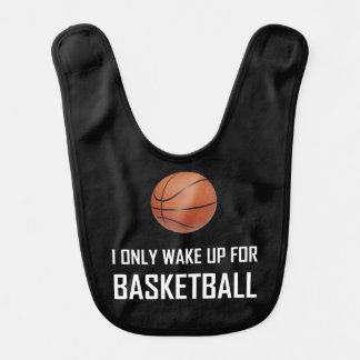 Ich wache nur für Basketball auf Lätzchen