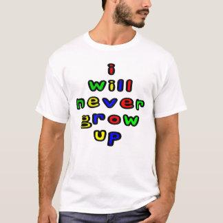 Ich wachse nie das T-Shirt der Männer auf