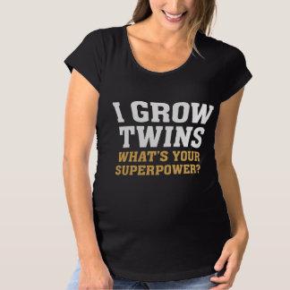 Ich wachse Zwillinge Schwangerschafts T-Shirt