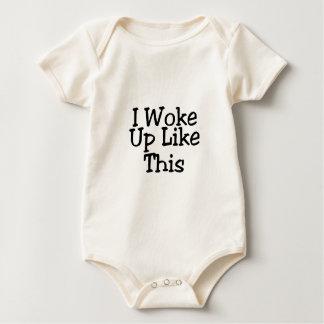 Ich wachte so auf baby strampler