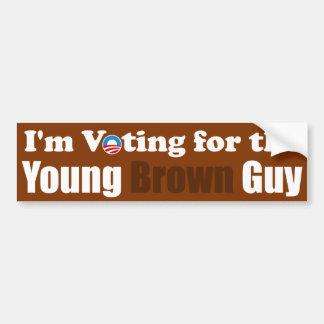 Ich wähle für den jungen Brown-Typ Autoaufkleber