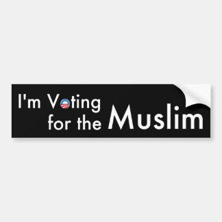 Ich wähle für die Moslems Autoaufkleber