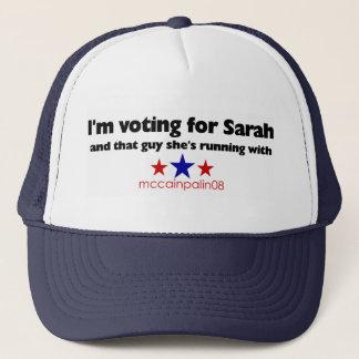 Ich wähle für Sarah Truckerkappe