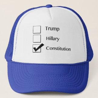 Ich wähle Konstitutions-Hut Truckerkappe