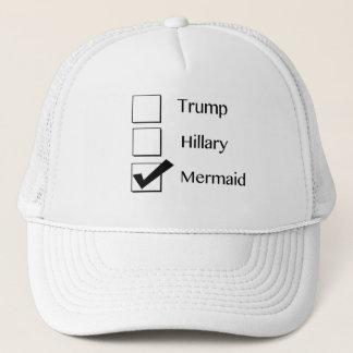 Ich wähle Meerjungfrau-politischen Hut Truckerkappe