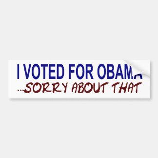 Ich wählte für Obama Autoaufkleber