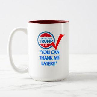 Ich wählte für Trumpf Zweifarbige Tasse