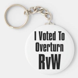 Ich wählte, um RvW umzuwerfen Schlüsselanhänger