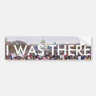 """""""Ich war dort"""" der März der Frauen in Washington Autoaufkleber"""