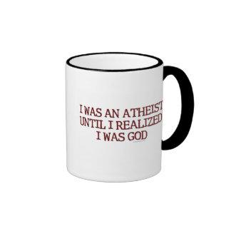 Ich war ein Atheist Ringer Tasse
