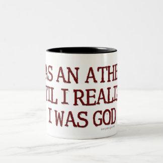 Ich war ein Atheist Zweifarbige Tasse